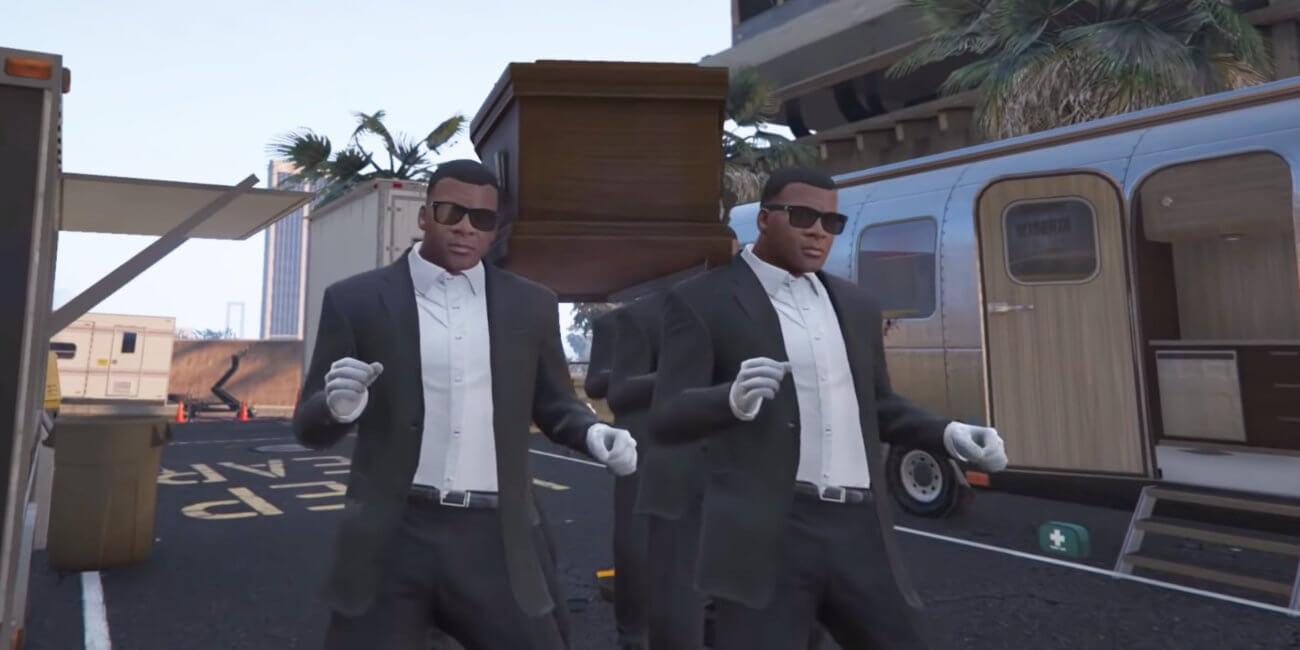"""El meme de """"Los bailarines del ataúd"""" llega a GTA 5 mediante un mod"""