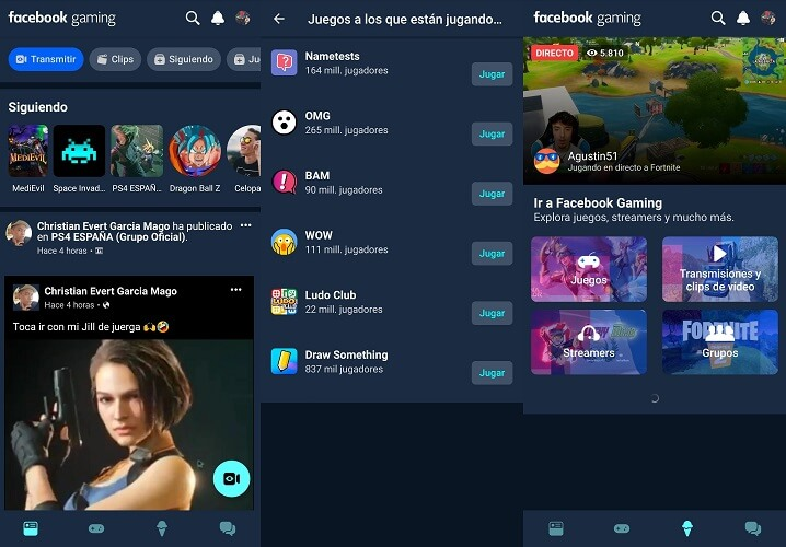 Imagen - Facebook Gaming: la app de streaming de videojuegos