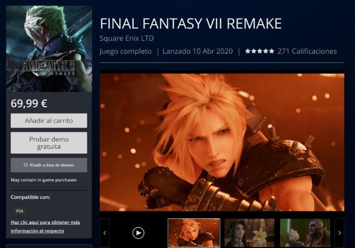 Imagen - Final Fantasy VII Remake: dónde comprarlo barato