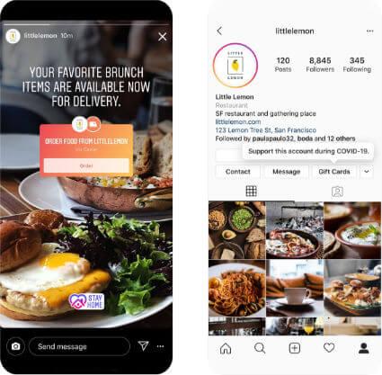 Imagen - Instagram: comida a domicilio con las Stories