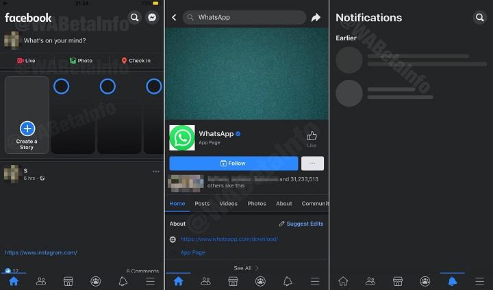 Imagen - Modo oscuro de Facebook para iOS: nuevas imágenes