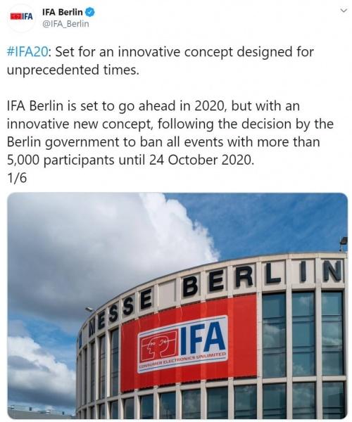 Imagen - El IFA 2020 es cancelado por el coronavirus