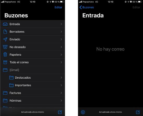 Imagen - Modo oscuro Gmail en iOS: ya disponible