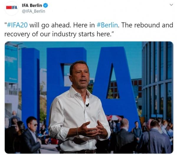 Imagen - IFA 2020 se celebrará con restricciones de aforo