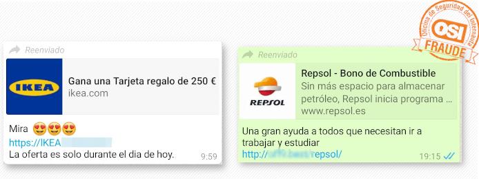 Imagen - Tarjetas de Ikea y bonos Repsol por WhatsApp: son una estafa