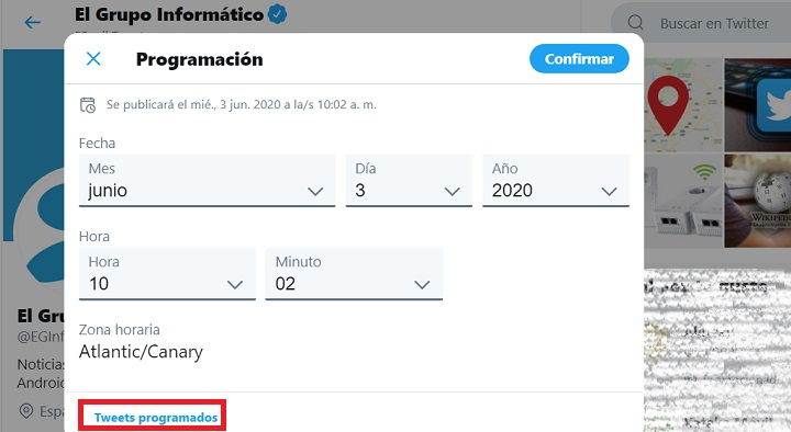 Imagen - Cómo programar tweets en Twitter oficial