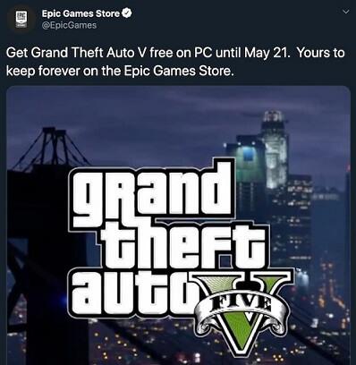 Imagen - GTA V gratis llegaría a la Epic Games Store