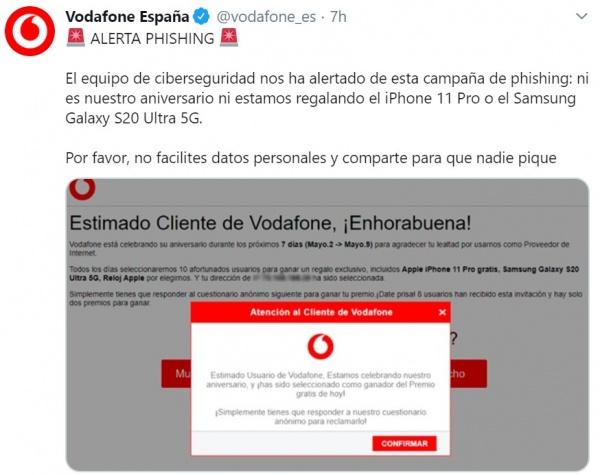 Imagen - Aniversario Vodafone: ¿regalan un móvil?