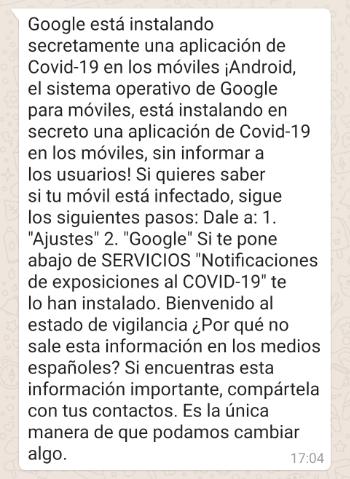 """Imagen - """"Google está instalando secretamente una app..."""", ¿es real?"""