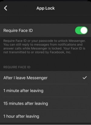 Imagen - Facebook Messenger: bloqueo con Face ID y Touch ID