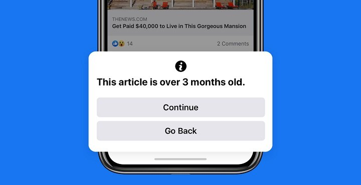Imagen - Facebook quiere evitar que compartas información antigua