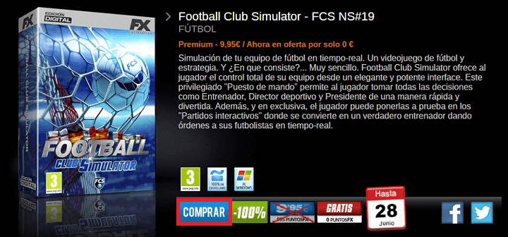 Imagen - Football Club Simulator 19: consíguelo gratis