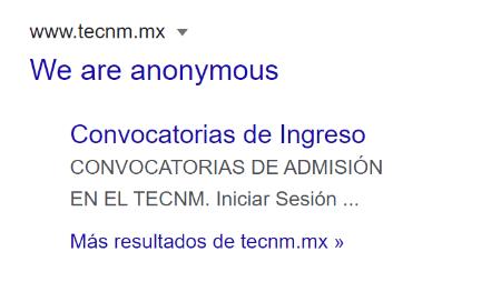Imagen - Anonymous hackea la web del Tecnológico Nacional de México