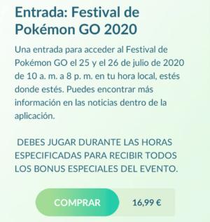 Imagen - Pokémon Go Fest 2020: precio excesivo del evento