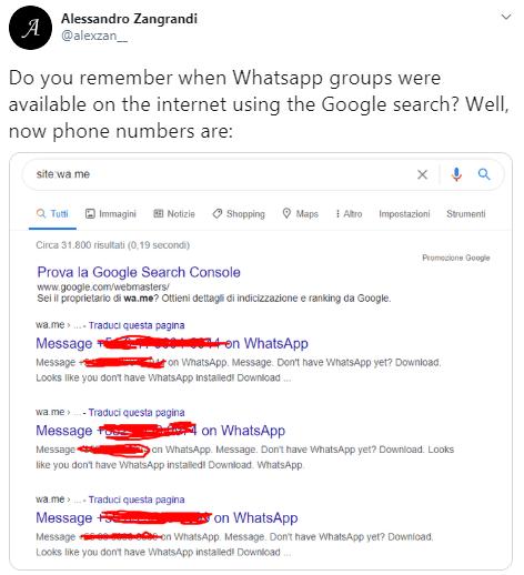 Imagen - WhatsApp filtra números de móvil personales en Google