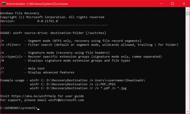 Imagen - Windows File Recovery: recupera archivos eliminados