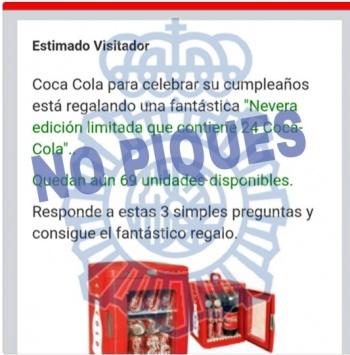 Imagen - Nueva estafa: Coca Cola no regala neveras en WhatsApp