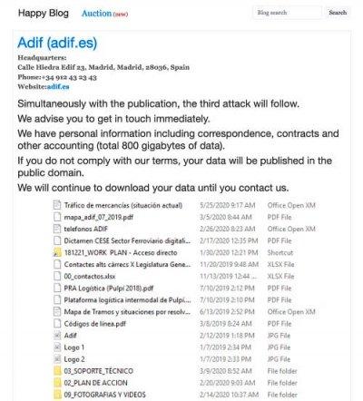 Imagen - Adif es hackeado: robada información delicada
