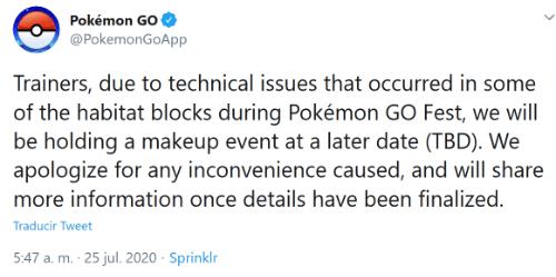 Imagen - Pokémon Go falla durante el Go Fest 2020