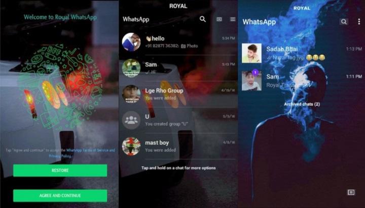Imagen - Royal Whatsapp Transparent, una versión mejorada de WhatsApp