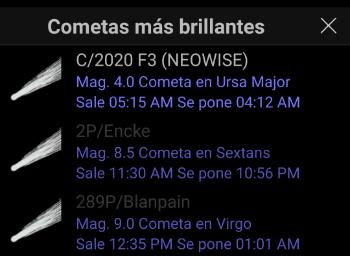 Imagen - Cómo ver el cometa Neowise con apps