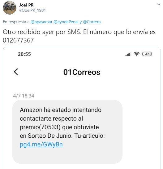 Imagen - Correos: falsos gastos de entrega y premios de Amazon