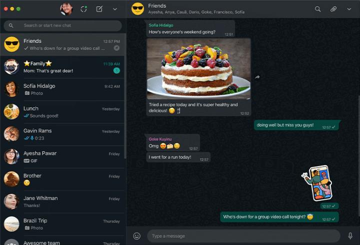 Imagen - WhatsApp recibe QR, modo oscuro web y mejores videollamadas