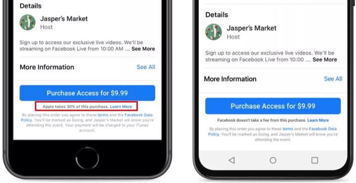 Imagen - Apple bloquea Facebook por informar de sus comisiones