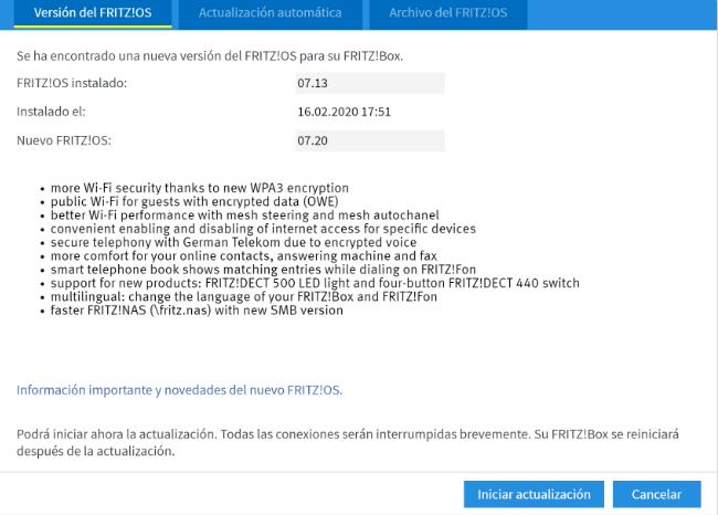 Imagen - FRITZ!OS 7.20 llega a los routers, repetidores y powerlines