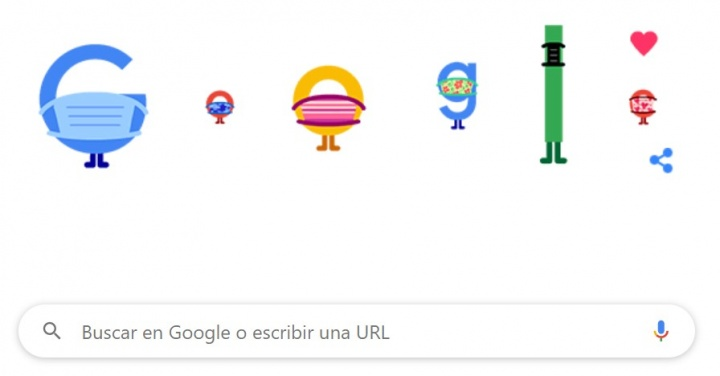 """Imagen - Google lanza un Doodle de """"prevención del COVID‑19"""""""