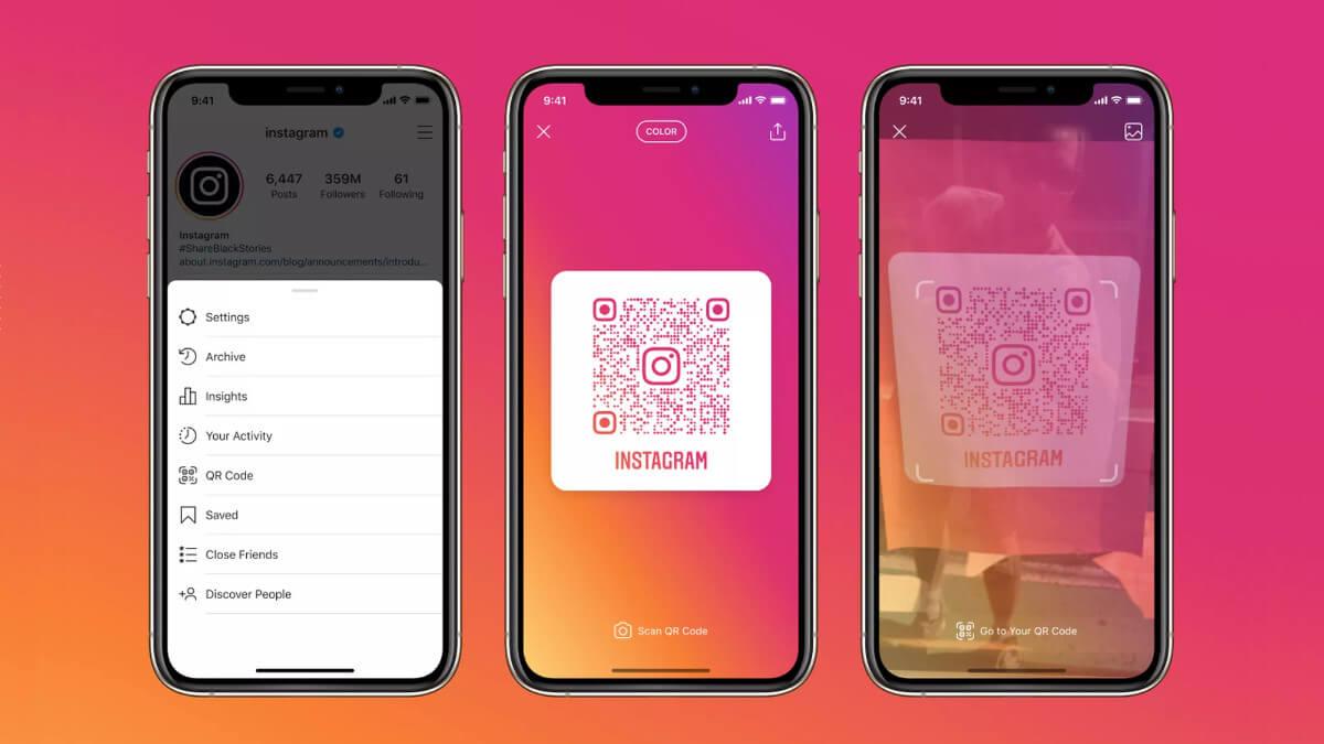 Instagram mejora sus QR: accede a los perfiles usando la cámara del móvil