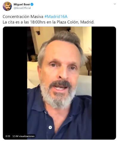 Imagen - Twitter bloquea la cuenta de Miguel Bosé durante una semana