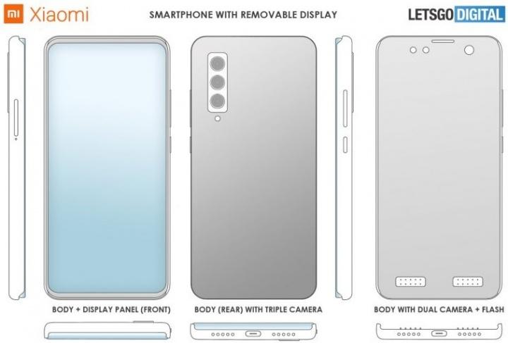 Imagen - Xiaomi patenta un móvil con pantalla extraíble