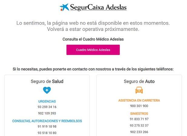 Imagen - La web de Adeslas no funciona por un ataque de ransomware