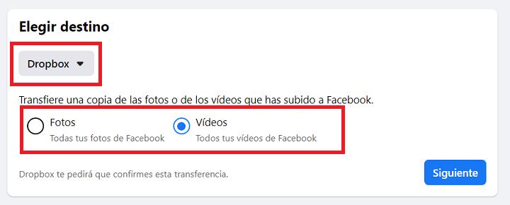 Imagen - Cómo exportar las fotos de Facebook a Dropbox