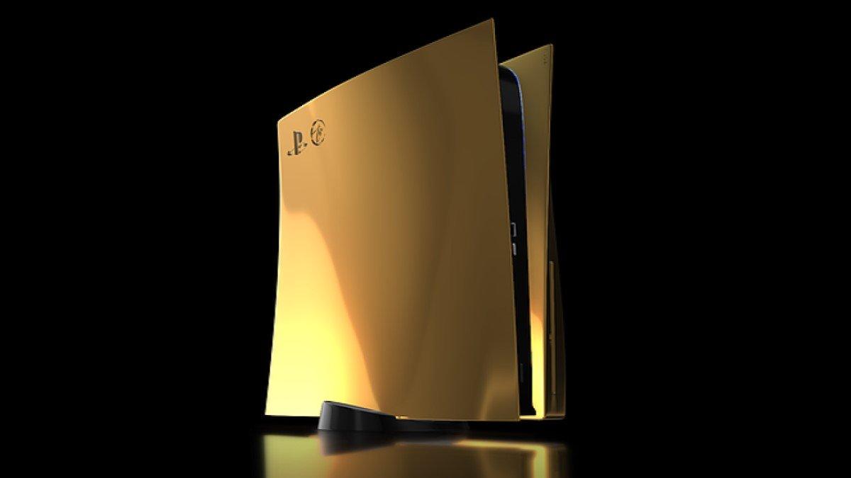 Esta PlayStation 5 bañada en oro de 24K cuesta casi 9.000 euros