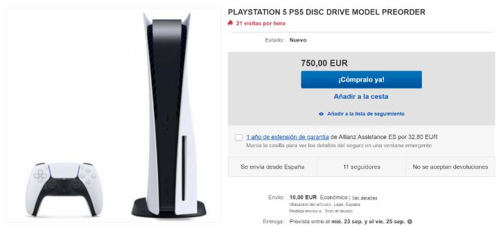 Imagen - PS5 agotada en el lanzamiento y reservas retrasadas