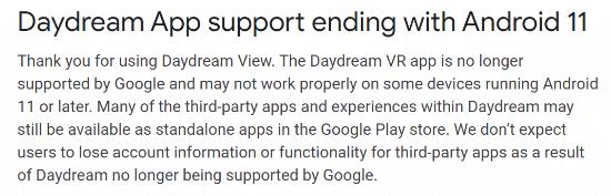 Imagen - La realidad virtual de Daydream no funciona en Android 11
