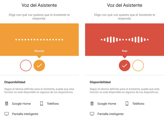 Imagen - Google Assistant añade voz de hombre en español