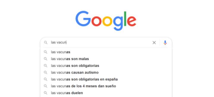 """Imagen - Google sugiere que """"las vacunas son malas"""", ¿por qué?"""