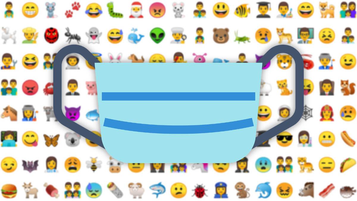 El emoji de la mascarilla también sonreirá