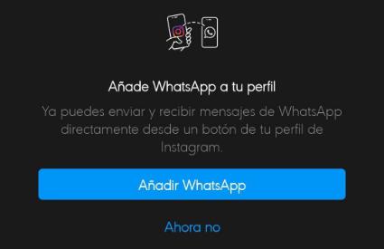 Imagen - Instagram ya permite añadir WhatsApp a tu perfil