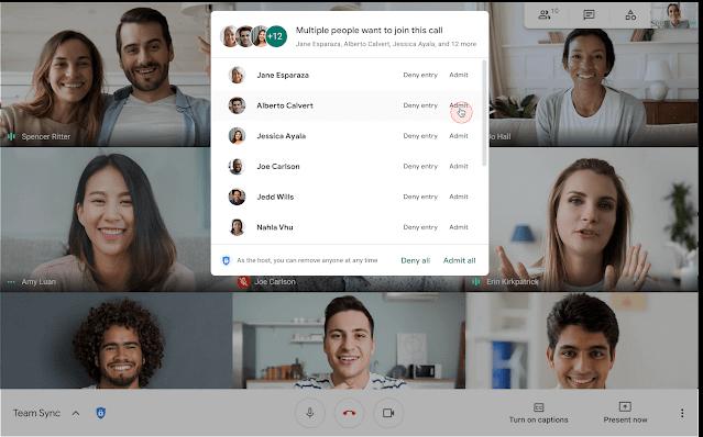 Imagen - Google Meet permitirá admitir a todos de una vez