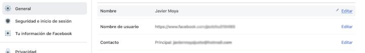 Imagen - Cómo saber mi correo de electrónico de Facebook