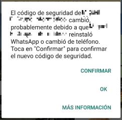 """Imagen - WhatsApp: """"El código de seguridad cambió"""", ¿qué significa?"""