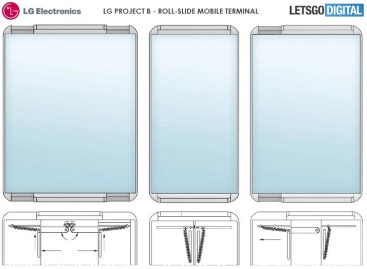 Imagen - Smartphone enrollable de LG: imágenes de la patente