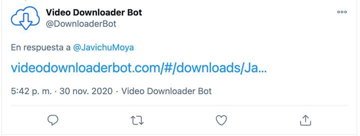Imagen - Downloaderbot, descarga GIF o vídeos de Twitter
