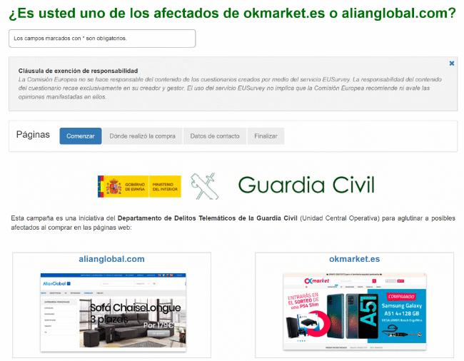 Imagen - okmarket.es y alianglobal.com son cerradas por estafa