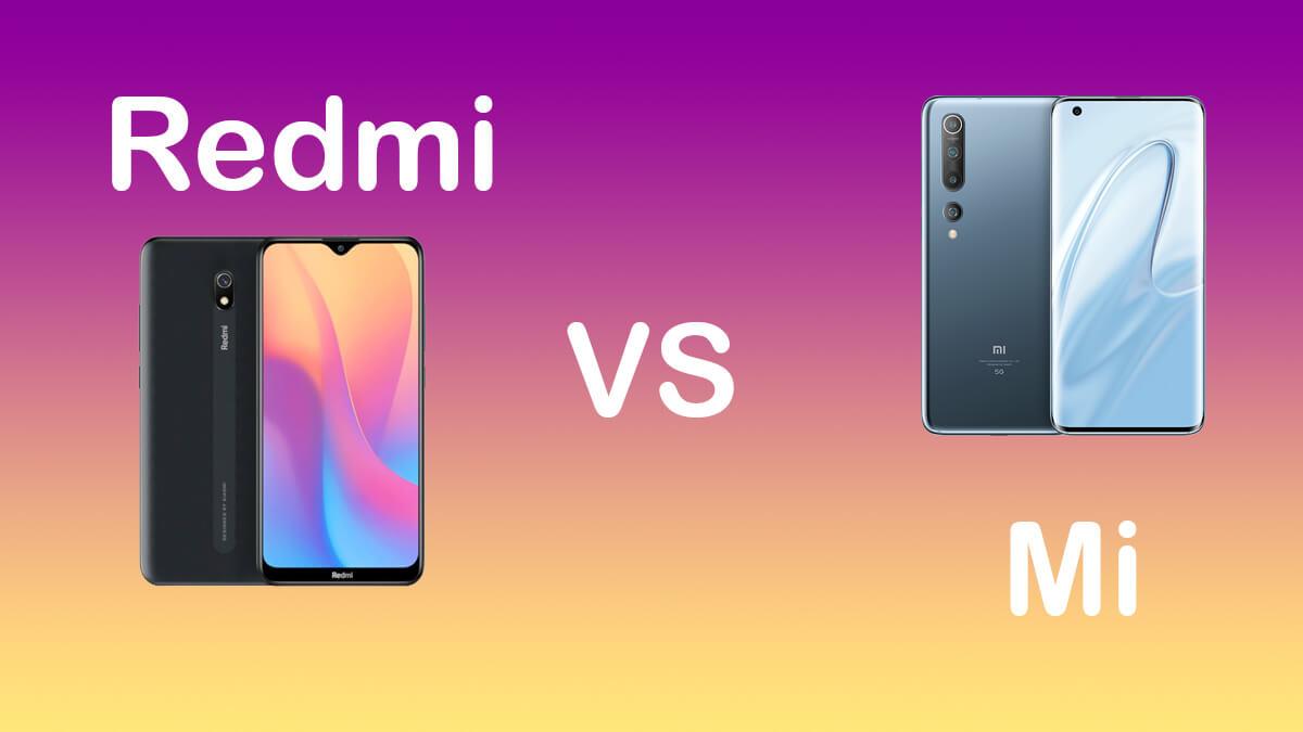 ¿Cuál es la diferencia entre Redmi y Mi?
