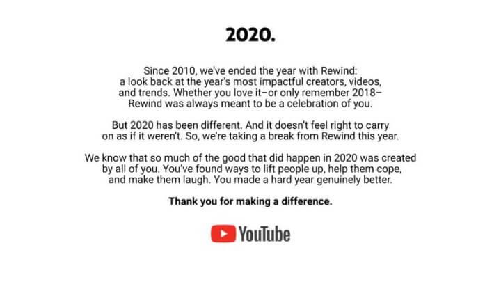 Imagen - YouTube Rewind 2020: cancelado por el COVID-19